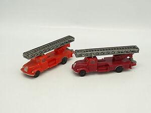 Eko-1-87-HO-Lote-de-2-Magirus-Deutz-Bomberos-A-escala-Feuerwehr