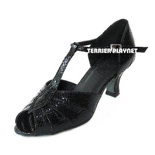 TPS Black Patent Latin Ballroom Salsa Custom-made Dance Shoes S100