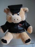 Harley-Davidson Plush Pig with Black Vest & Hat