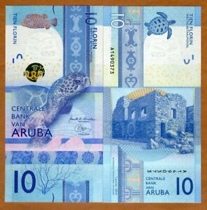 Aruba-10-florin-2019-P-New-UNC-gt-Complete-Redesign-Vertical-3-D-strip