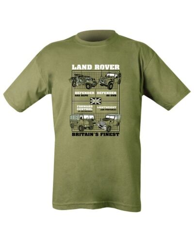 Green Types of Land Rover Defender Lightweight Jeep 100/% Cotton T-shirt