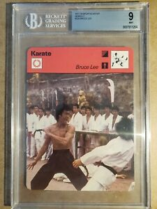 1977-Sportscaster-Bruce-Lee-BGS-9-Mint-Card-Be-Water