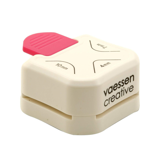 Vaessen Creative Paper Punch, 3 in 1 Corner Punch, for DIY Projects, and Card