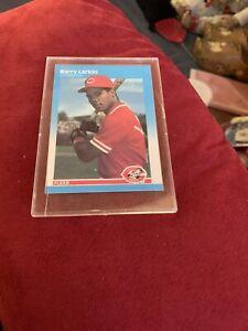 Barry Larkin 1987 Fleer Rookie Card Reds