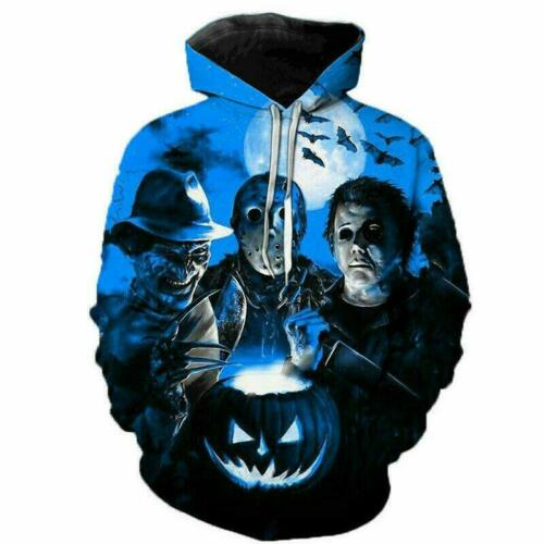 Freddy Jason Murderers Horror 3D Print Men//Women/'s Casual hoodies Sweatshirts