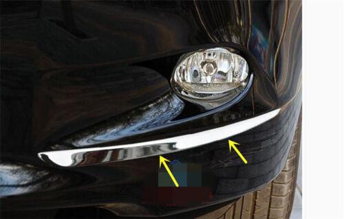 Chrome Front Fog Light Cover Trim Eyebrow 2pvcs for Honda Accord mk8 2008-2010