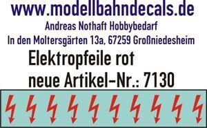 10 Spur 1 rote Elektropfeile 6,8 x 3,8 mm - Decals TOP 032-7130