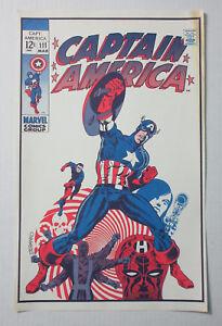 Original-1970-039-s-Captain-America-111-Marvel-Comics-cover-POSTER-Foom-Steranko-art