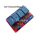 12V 4 Channel Relay Module With Optocoupler High Low Level Trigger