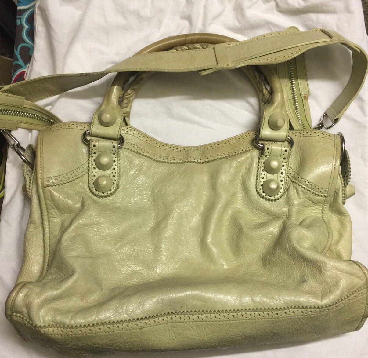 Balenciaga Tasche Pistazie Leather Giant Brogues Coverot Motorcycle City Bag Bag Bag | Verschiedene Waren  | Fierce Kaufen  | Qualität  a99242