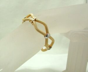 Gorgeous-Two-Colour-9-Carat-Gold-Fancy-Tubular-Bangle
