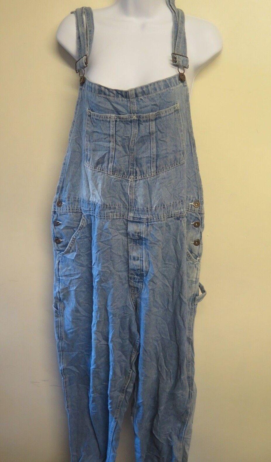 Vintage Denim Oversize Dungarees Overalls Combinaison UK Taille XL UK Combinaison 16/18 5bf6f2