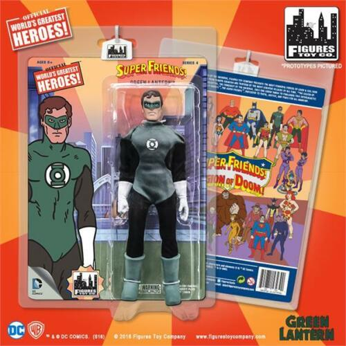 SUPER FRIENDS GREEN LANTERN SERIES 4  ; 8 INCH ACTION FIGURE MOSC NEW