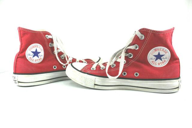 ae5e7e658647 Converse All Star Chuck Taylor Red M9621 High Top Sneakers Sz Mens 6 Womens  7