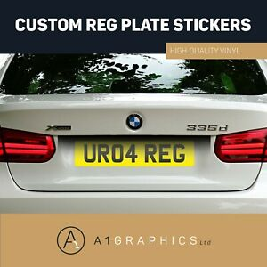 Rear-Stick-On-Number-Plate-Sticker-For-Caravan-Trailer-4x4-Offroader-Reg-Plate