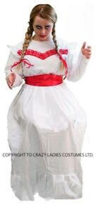 image is loading halloween horror scary evil ladies annabelle doll costume