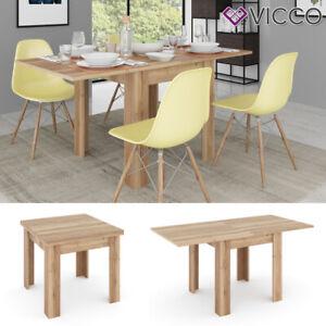 Details zu VICCO Esstisch MARTIN 80 - 160 cm Eiche Esszimmertisch  ausklappbar Küche Tisch