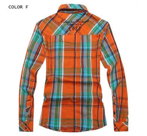 Mens Long Sleeve Cotton Check Shirt