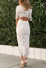 SOLD OUT Blogger White For Love & Lemons Luna Lace Dress - Wedding Reception - S