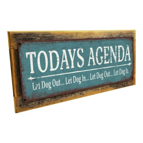 Let Dog In Metal Sign; Wall Decor for Home and Office Let Dog Out