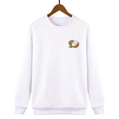 Coconut Sweatshirt Womens Mens Unisex Sweat Swag Hipster Fashion Slogan Cute BerüHmt FüR AusgewäHlte Materialien, Neuartige Designs, Herrliche Farben Und Exquisite Verarbeitung