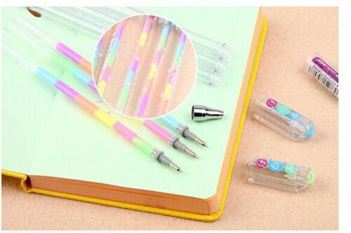 2x Cute Design Highlighter Pen Marker Stationary Point Pen Ballpen 6 Color  G$