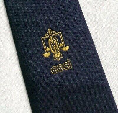 Vintage Cravatta Da Uomo Cravatta Crested Logo Aziendale Blu Scuro Oro Da Melliard Di Londra-mostra Il Titolo Originale