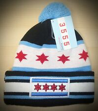 CHICAGO Winter Skull hat - CHICAGO FLAG