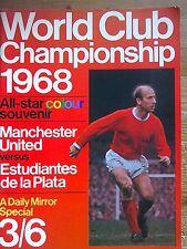 Revista de recuerdo del Manchester United v Estudiantes. 1968 campeonato del mundo.
