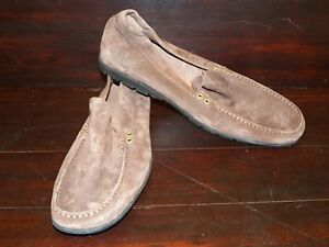 New UGG Mens Ballard Chocolate Brown Suede Sheepskin Loafers Slippers Shoes