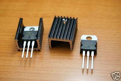 4 pcs TO-220 Black Heatsink Heat Sink for Voltage Regulator Aluminium