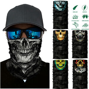 7baccb1e98e Image is loading Skull-Cycling-Motorcycle-Head-Scarf-Neck-Warmer-Face-