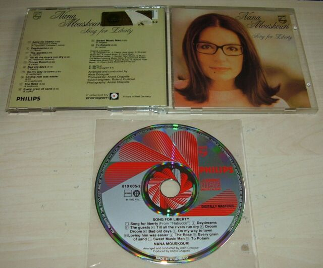 NANA MOUSKOURI Song For Liberty CD 1982/198? Early Philips Red Swirl W. Germany