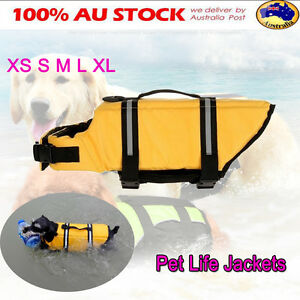 XS-S-M-L-XL-Pet-Dog-Saver-Life-Jacket-Reflective-Preserver-Float-Vest-Swimming
