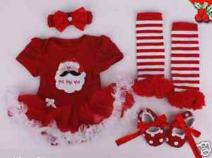 Reborn-Clothing-Set-For-Newborn-Doll-22-039-039-Xmas-Baby-Girl-Lace-Dress-Handmade-New