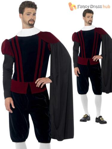 Homme Deluxe Blackadder Tudor Prince Lord Fancy Dress Costume Médiéval Costume