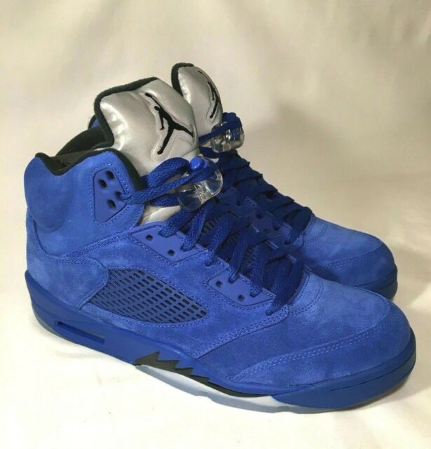 Size 14.5 - Jordan 5 Retro Blue Suede