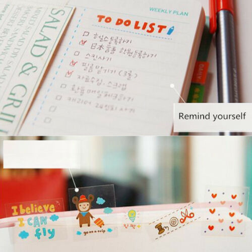 6 Sheets Cute Album Scrapbook Calendar Diary Planner Card Stickers Decoration