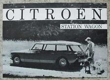 CITROEN DS STATION WAGON USA Car Sales Brochure 1960