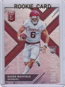 Details About Baker Mayfield Oklahoma Sooner 2018 Elite Rookie Card Browns Football Red Hot Rc