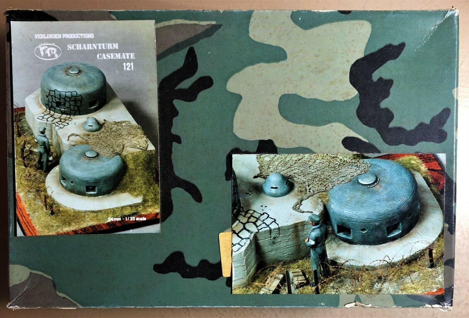VERLINDEN 121 - SCHARNTURM CASEMATE - 1/35 CERAMIC KIT