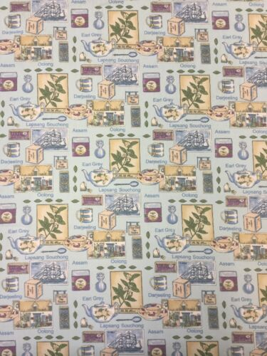 Time For Tea Cotton Craft Fabric By The Metre