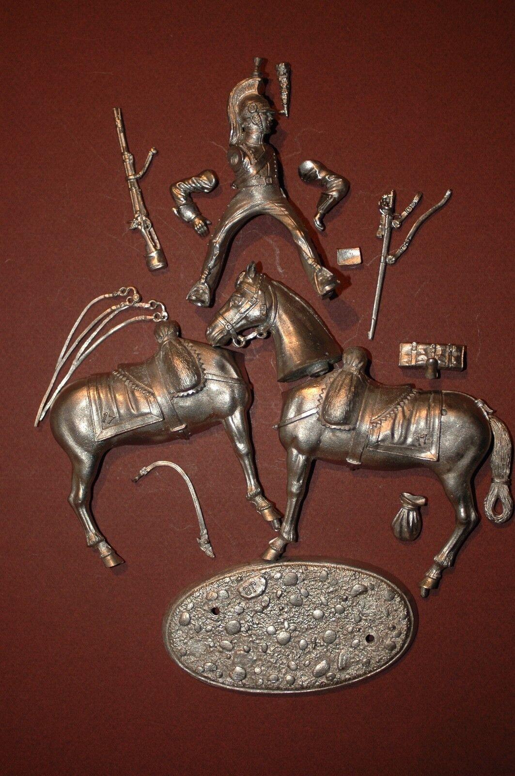 Sehr selten benassi 80 mm dragon de la ligne beitrag regiment 1812-1814
