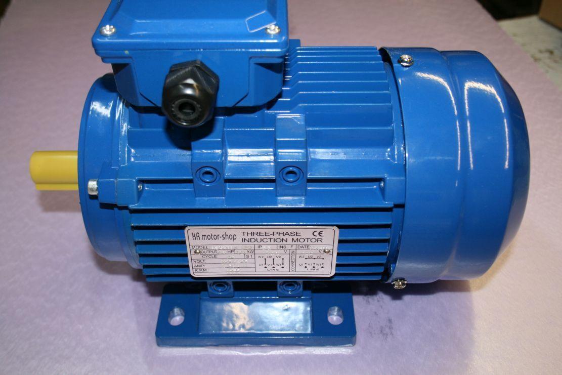 ENERGIESPARMOTOR IE2 Drehstrommotor 1,5 kW B3-230//400V 1500 U//min