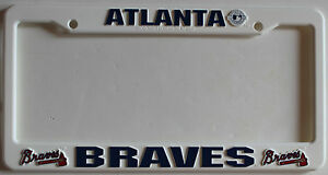 New Atlanta Braves MLB Baseball League License Plate Plastic Frame ... 77d6a194ee31
