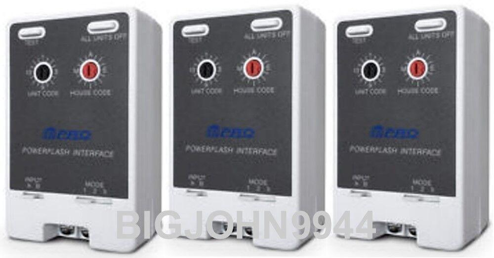 3 Pk X10 PRO PSC01 (PF284) Powerflash Alarm Interface Module Factory Fresh