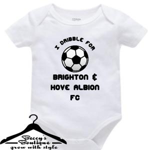 Custom BabyGrow Vest Bodysuit I Dribble For Brighton /& Hove Albion football