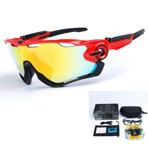 New 5 Pair Lens Polarized Cycling Bicycle Sunglasses Jawbreaker Goggles
