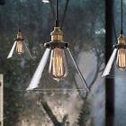 Glass Pendant Ceiling Vintage Light Fixture Chandelier Edison LED Lamp