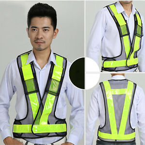 New High-Vis Bright Reflective vest Reflective Warning clothing